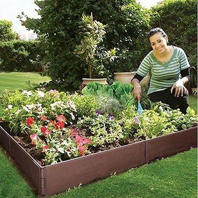 Raised Garden Bed 8 Panel Outdoor Modular Flower Vegie Patch Planter 115x115cm