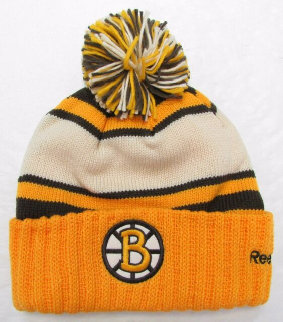 Buy Boston Bruins 2010 NHL Winter Classic Reebok Cuffed Pom Knit Hat ... e2f8f7c3898