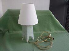 Schöne große Meissen Lampe mit Marmor-Dekor
