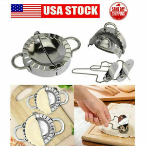 Stainless Steel Dumpling Empanada Mould Maker Dough Presser Wrapper Slicer Tool