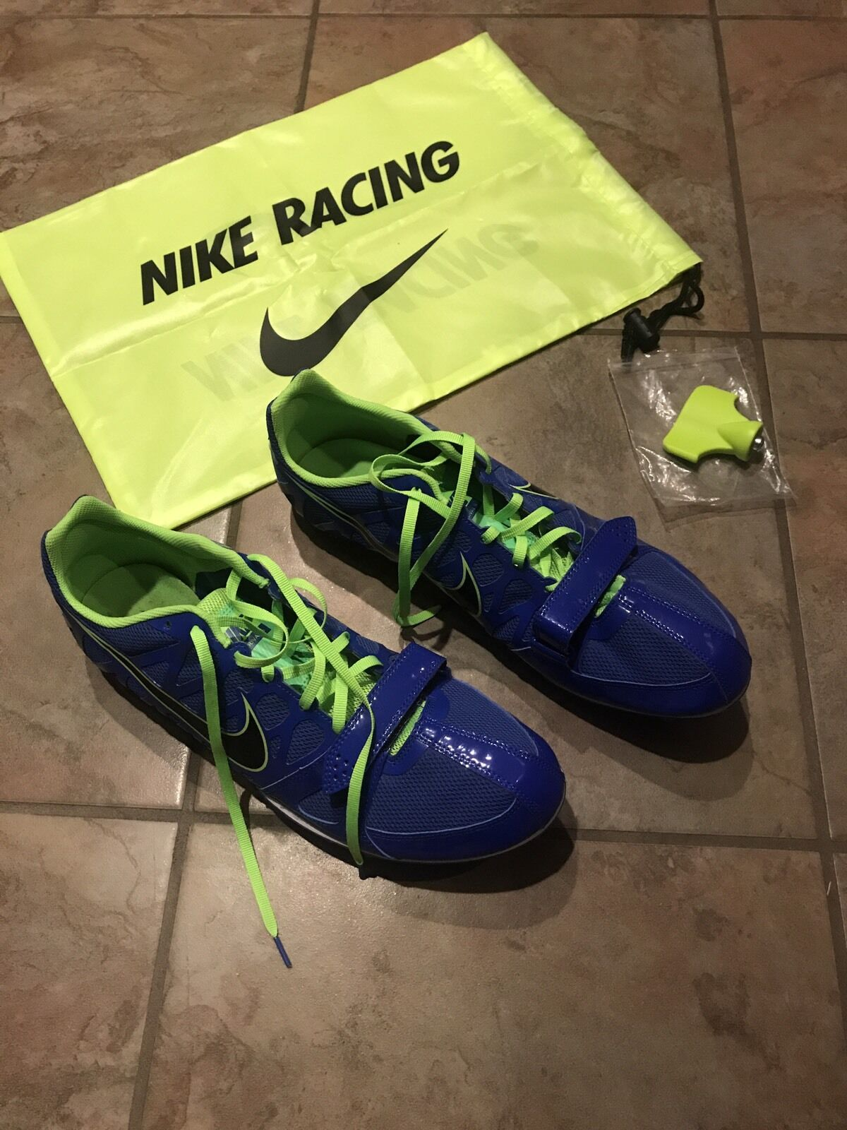 Mens Sz 12 NIKE Zoom Rival S Sprint Track Spikes Shoes Running Volt 456812-403 The latest discount shoes for men and women