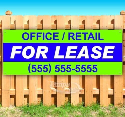 OFFICE RETAIL FOR LEASE CUSTOM PHONE Advertising Vinyl Banner Flag Sign