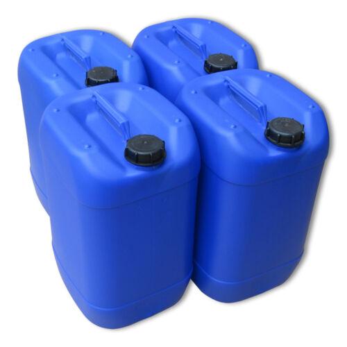 4 x 25 L Kanister blau Wasserkanister Getränkekanister dicht lebensmittelecht