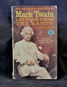 Vintage 1963 Book Letters from the Earth by Mark Twain