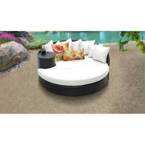 Tremendous Details About Belle Circular Sun Bed Outdoor Wicker Patio Furniture In Sail White Download Free Architecture Designs Embacsunscenecom