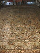 Antique wool Kaschan carpet #1, circa 1910-1930, 14x10.5 feet