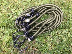 Sporting Goods BCB CM031 GREEN HEAVY DUTY ELASTICATED BUNGEE CORD 1M PACK OF 4