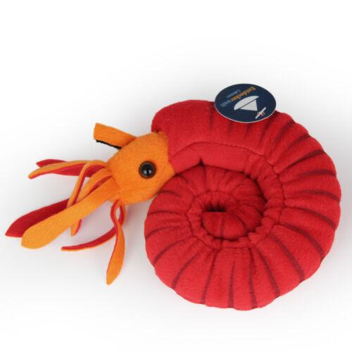 Nautilus Animal en Peluche Ammonite Rouge Céphalopodes FOSSIL diamètre env. 15 cm
