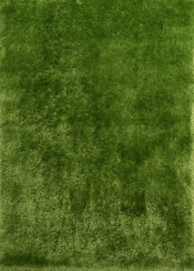 United Weavers Green Thick Soft Plush Shag Flokati Area