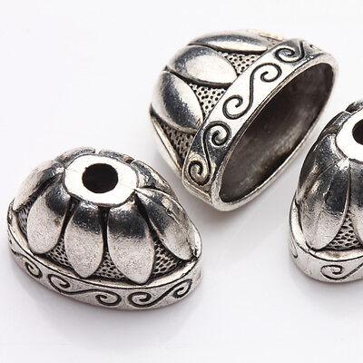 5Pcs Tibet Silver Flower End Shape Bead Caps Jewelry Makings Handmade 20*13*12mm