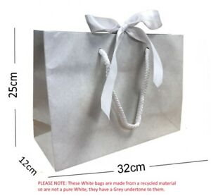 20 Medium Ribbon Tie Bow Gift Bags Luxury Party Events Table Favour Bag