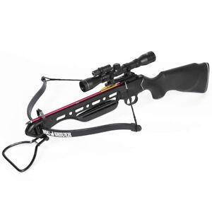 150-lb-Black-Hunting-Crossbow-Bow-4x20-Scope-7-Arrows-Bolts-180-175-80-50