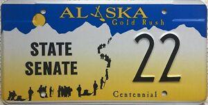 GENUINE-Alaska-Goldrush-Centennial-State-Senate-License-Number-Plate-22