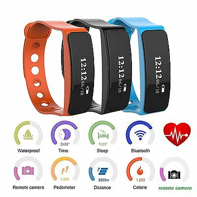 Tracker IPHONE Fitness SMART ANDROID Bracciale IMPERMEABILE Polso Orologio heartrate qw0YRFXxgY