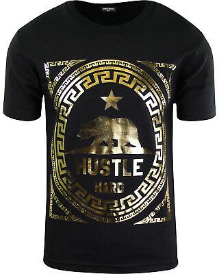 ShirtBANC California Hustle Hard Bear Shirt Metallic Silk Screen