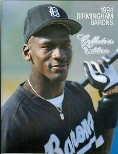 dee340d203d 1994 Birmingham Barons Program White Sox AA Affiliate Michael Jordan ...