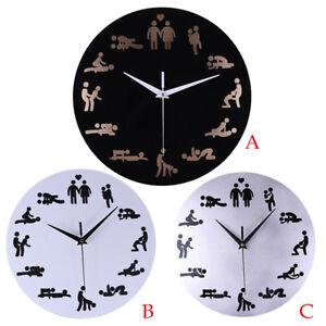Acryl-Wanduhr-Creative-Fun-Schlafzimmer-Mute-Modern-Quarz-Rund-Romantik-Clock-DE