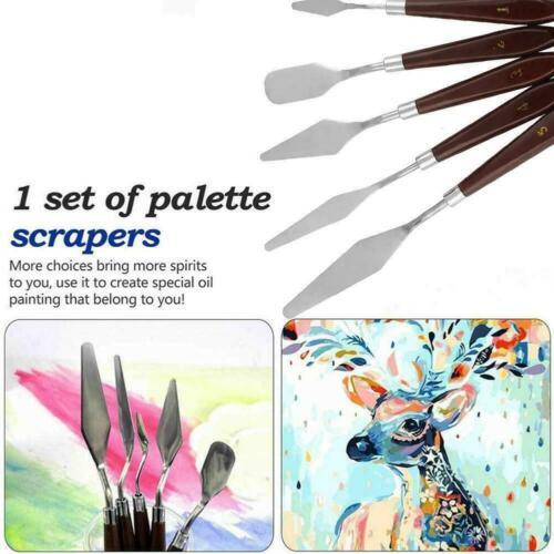 5PCS Set Stainless Palette Scraper Spatula For Artist Oil Painting R6H3