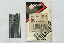 10 New Cleveland 33 Nas Type A Jobber Twist Drill Bits Black Oxide C02361 Usa
