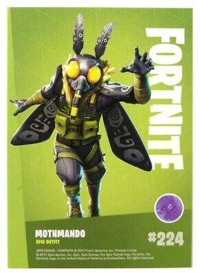 Fortnite Trading Card No 224-mothmando-Epic-Foil