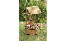 Professional Garden Decoration Wooden Wishing Well Flower Decorative