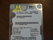 WD WD1600BEVS-26VAT0 (All available drives in listing)