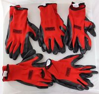 Grease Monkey Nitrile Coated Work Gloves Large (5) Five Pairs Bulk Pack