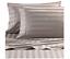 Cannon 4 Piece 100/% Cotton 300 T-C Damask Stripe Flexi-Fit Soft Sheet Set