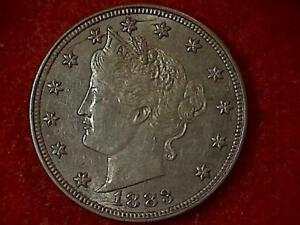 1883-Liberty-V-Nickel-No-Cents-BU-NICE