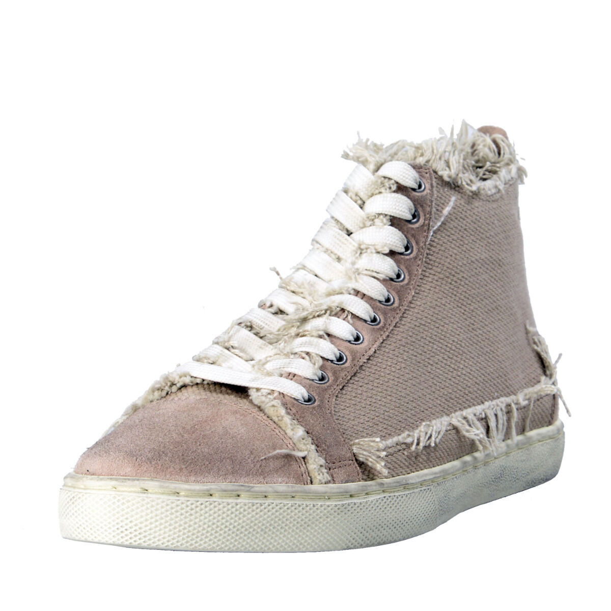 Dolce & Gabbana Women's Canvas Leather Fashion Sneakers Shoes 8.5 9