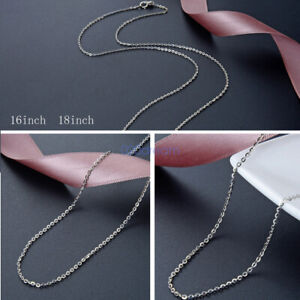 SOLID-925-STERLING-SILVER-1-2mm-Necklace-16-039-039-18-039-039-Trace-Belcher-Chain-Rope-Gift