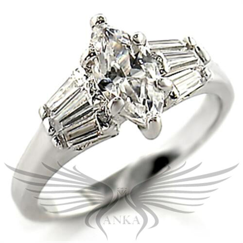 Brilliant 1.0 ct Marquise Cubic Zircon CZ AAA Engagement Ring 5 6 8 9 10 21008