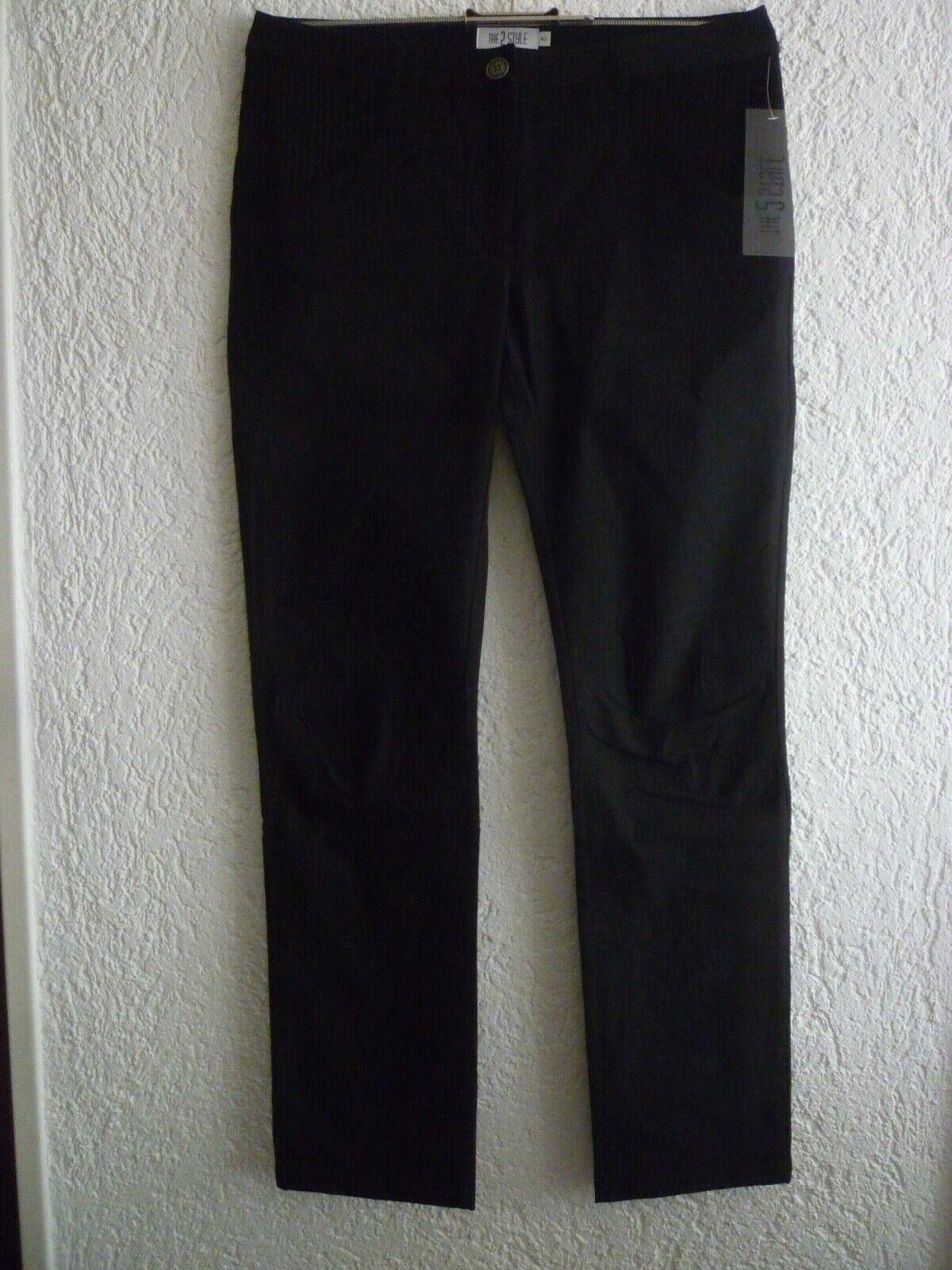 Hose STOFFHOSE Stretch schwarz Gr. 42- THE 2STYLE