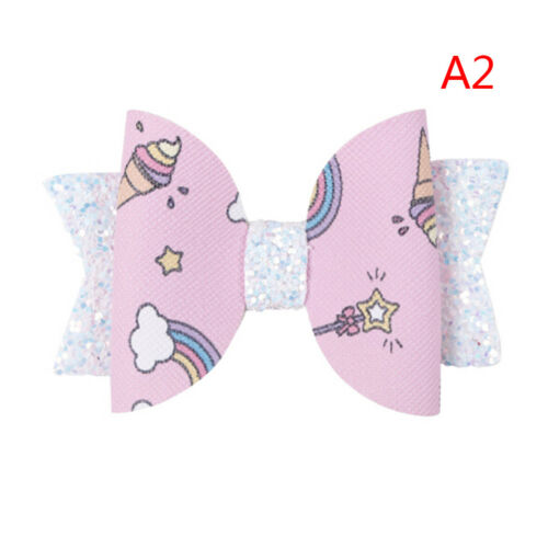 3 inches Girls Hair Bow Mermaid Glitter Bow Glitter Bow Girls Hair Clip MW