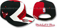 Bulls '1-on-1 Snapback' Black-white-red Hats By Mitchell & Ness
