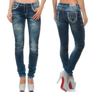 Cipo-amp-Baxx-Damen-Regular-Fit-Jeans-Freizeit-Hose-Casual-Style-Denim-bequem