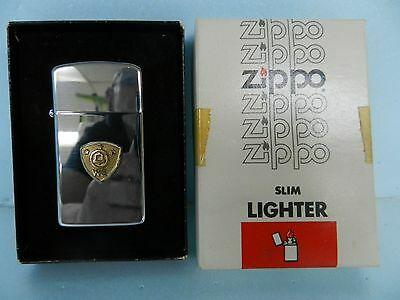 MINT (NOS) VTG ZIPPO #1610 WESTERN ELECTRIC HIGH POLISH UNFIRED SLIM LIGHTER