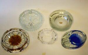 Tavolo Cristallo E Vetro.Dettagli Su Lotto 5 Posacenere Da Tavolo In Cristallo E Vetro Vintage Design Anni 70