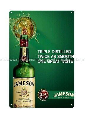 Jameson Irish Whiskey club bar metal tin sign pub studio  man cave