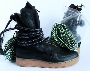 5d88dcc2cd27 NIKE AIR FORCE 1 SF AF1 HI SPECIAL FIELD BLACK-GUM SZ 9 SAMPLE ...