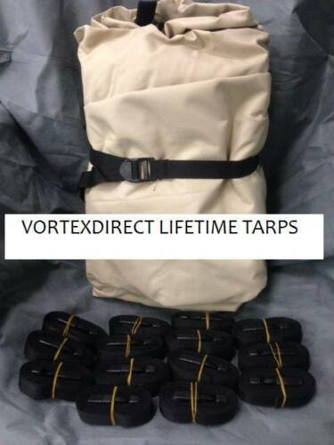 NEW VORTEX LIFETIME TARP 18 X 12 FEET BEIGE//TAN HEAVY DUTY COVER