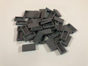 75 NEW LEGO DARK GREY 1x2 FLAT TILES 3069 4211052 modular moc dark stone gray