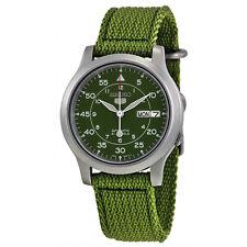 Seiko 5 SNK805 K2 Automatic Green Nylon Canvas Strap Men's Watch with Seiko Box