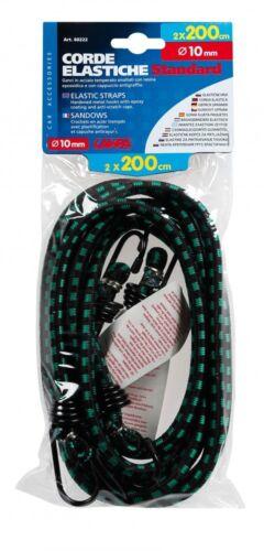 Lampa elastische Gepäckspanner 200 cm 2er-Set