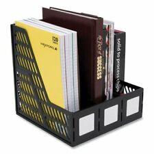 Advantus 3 Compartment Magazineliterature File Black Avt34091