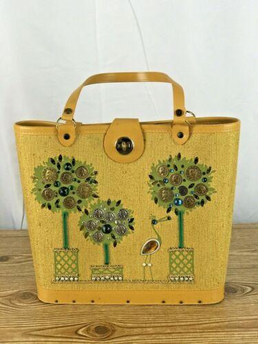 Rare vintage  handbag boho, Bucket Small 70s Hippi