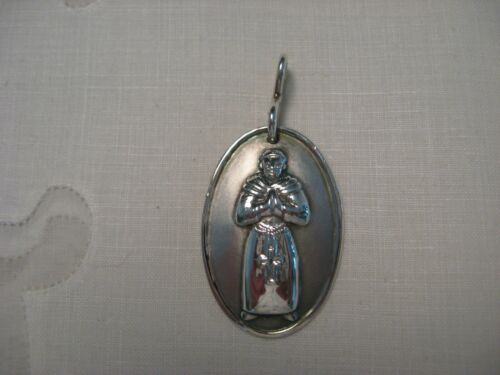 Vintage Sterling Silver MONK Pendant  Robe Rosary