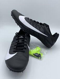 82cd868489762 Details about New Nike Zoom Rival S 9 Track & Field Shoes Spikes Black  White 907564-001 10.5