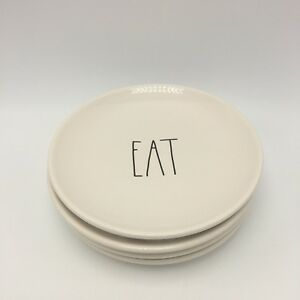 Rae-Dunn-EAT-Large-Letter-Rounds-Plates-Set-Of-4-Magenta-Artisan-Farmhouse-6-034