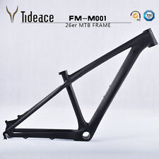 26er Carbon Mountain Bike Frame 14'' 3K Matte Full Carbon Fiber MTB Frameset